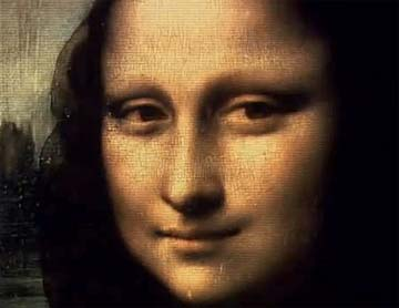 "Robert Hughes: ""The entanglement of big money with art has become a curse on how art is made, controlled, and above all - in the way that it's experienced."" Screen capture of Leonardo da Vinci's Mona Lisa from, The Mona Lisa Curse."