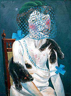 """Lady with Mink and Veil"" - Otto Dix. Oil on Linen. 1920. Dix painted this portrait of an old war widow forced to turn to prostitution in order to survive."