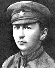 Czech writer Jaroslav Hašek as a member of the Soviet Red Army in 1920. Hašek was attached to the political department of the 5th army, where he worked on the Red Army newspaper.