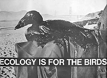 Ecology Is For The Birds - Anonymous artist. Designed for the International Bird Rescue Research Center (IBRRC). Offset, 1971.