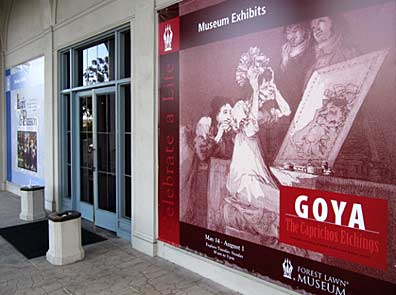 The Goya exhibit at Forest Lawn Memorial Park Museum in Glendale, California. Photo by Mark Vallen.