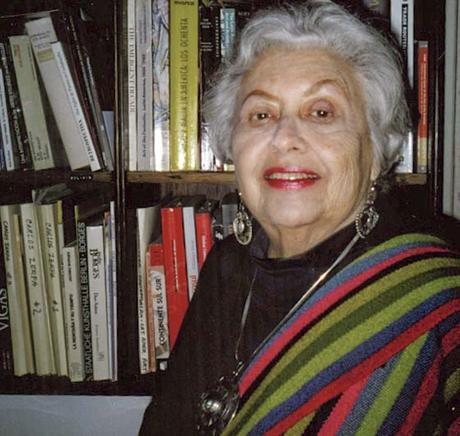 Shifra Goldman in her library. Photographer unknown.