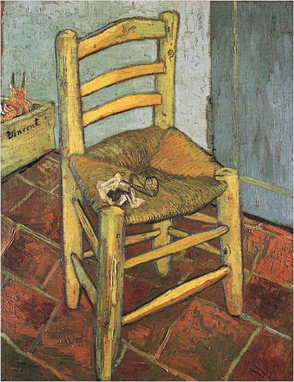 """Chair"" - Vincent van Gogh. Oil on canvas. 1888."