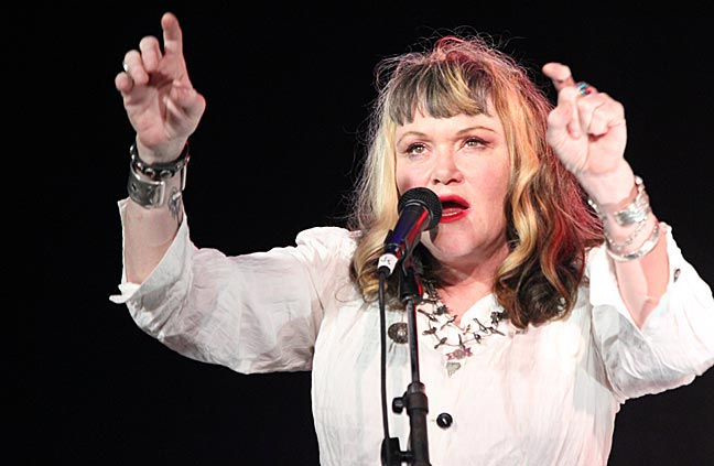 """Sister Exene Cervenka"" - Photo by Mark Vallen 2013 ©. Exene at The Echo club in Los Angeles."