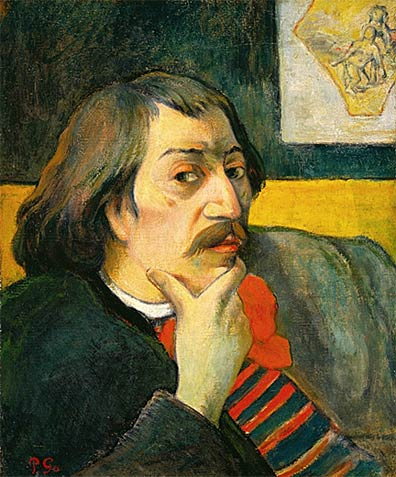 """Self Portrait"" - Paul Gauguin. 1893. Oil on canvas. 18 1/8 x 15 inches. Collection of the DIA."