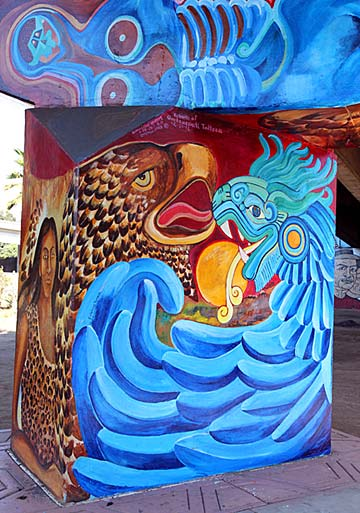 """Rebirth of Quetzalcoatl Tolteca"" - Restored by Guillermo Rosette in 2012."