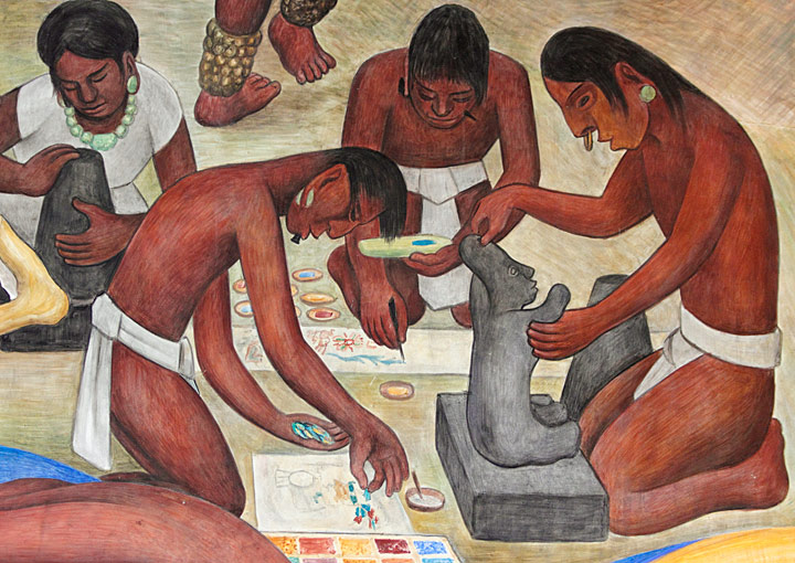 Detail of Pan American Unity Mural by Diego Rivera
