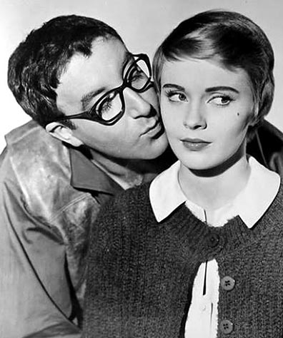 "Publicity still of Peter Sellers and Jean Seberg from ""The Mouse That Roared."" Date and photographer unknown."