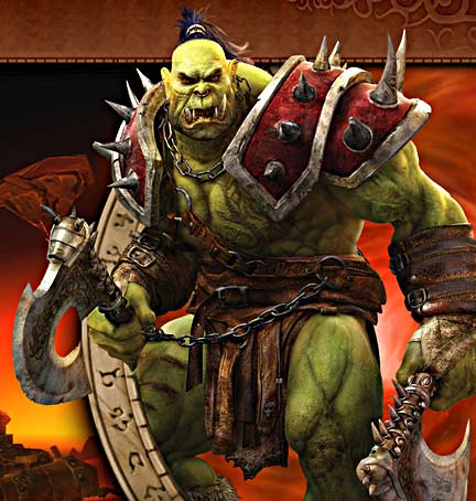 "An Orc warrior from the ""World of Warcraft"" online computer game, or an agent from the U.S. National Security Agency? Image courtesy of Blizzard Entertainment, producer of World of Warcraft."
