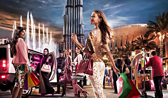 """Shop At Your Best."" Official image promoting the 2014 Dubai Shopping Festival."