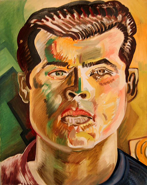 Portrait of Gilbert Luján - Roberto Chavez. Oil on canvas. 1966. Photo by Mark Vallen ©.