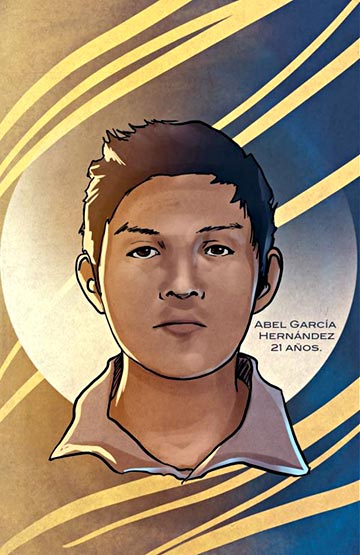 """Abel García Hernández"" - Poster of the missing 21-year old Ayotzinapa student created by Jorge Zapata."