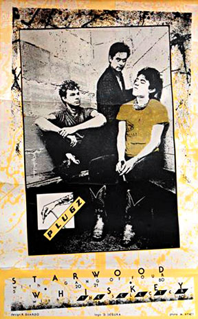 """The Plugz"" - Richard Duardo. 1980. Silkscreen poster announcing a Plugz performance at the Starwood with the Gang of Four."