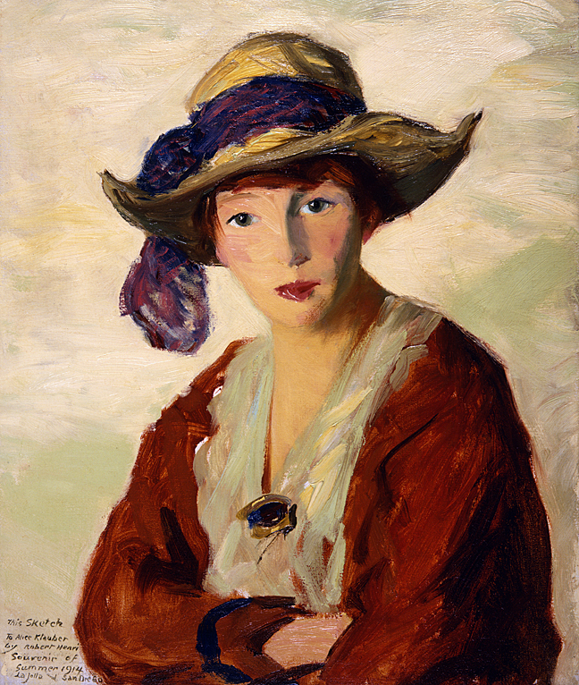 Portrait of Mrs. Robert Henri - Robert Henri. Oil on canvas. 1914. Image courtesy of the Laguna Art Museum.