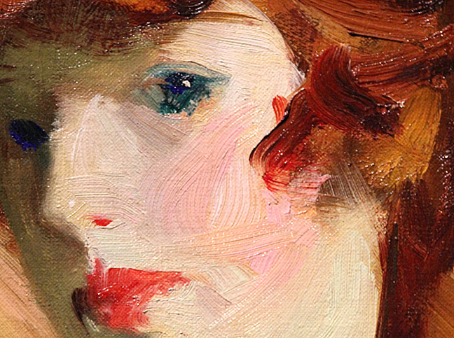 The Young Girl (Detail) - Robert Henri. Oil on canvas. 1915. Collection of the DIA.
