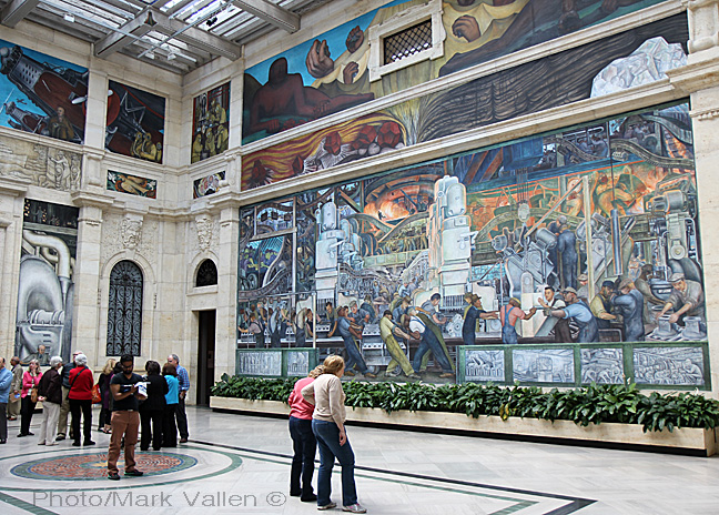 Diego rivera for Detroit rivera mural