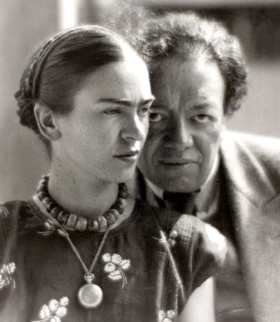 """Frida Kahlo and Diego Rivera"" - Photo by Hungarian photographer Martin Munkácsi."