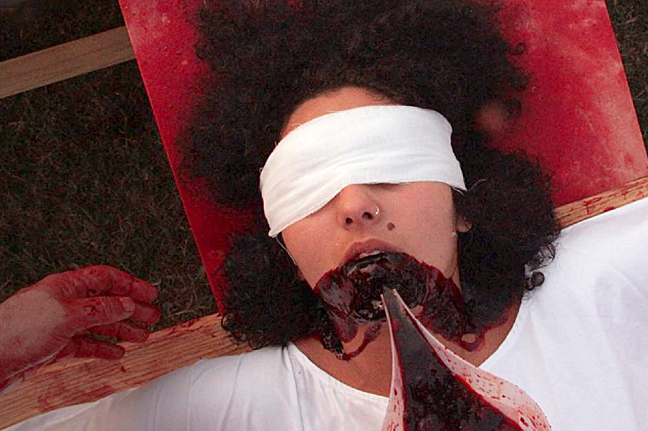 """Official PR image for the """"150.Action"""" performance conducted by Hermann Nitsch."""