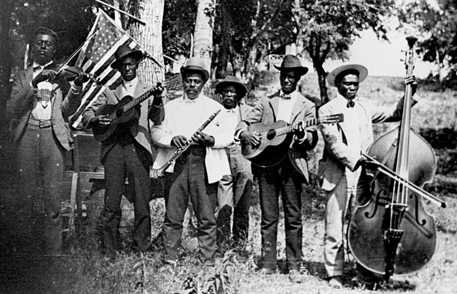 A band celebrates Juneteenth Emancipation Day, June 19, 1900,Texas, USA. Source: Houston Public Library Digital Archives.