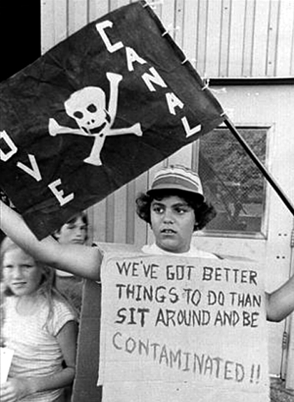 Children's protest against toxic waste contamination held in the Love Canal neighborhood, circa 1979. Photographer unknown.